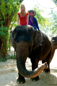 Katherine on Elephant