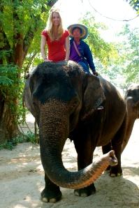 Katherine on Elephant